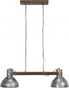PR HomeTaklampa - Industri Dubbel - Ashby Pale Silver - 110 cm
