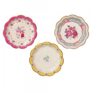 Papperstallrikar - Vintage Porslin - 17 cm