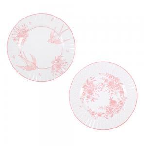 Papperstallrikar - Vintage Porslin Pink - 28 cm