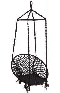 Hänggunga - Svart Makrame