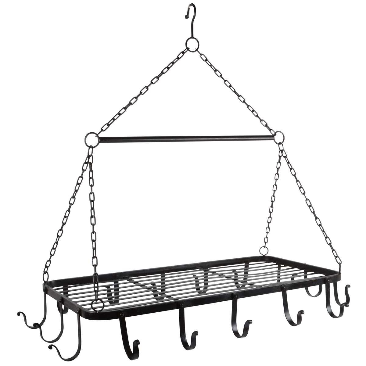 Hängande kökshylla med krokar Svart från IB Laursen 1595 00 kr Fröken Fräken