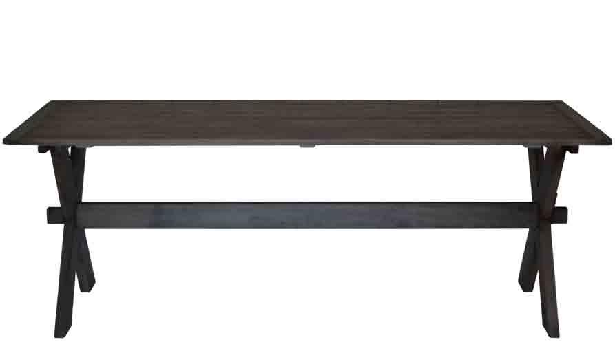 Svart Koksbord : svart koksbord  Matbord Rustik Svart 97 x 212 cm fron 7150 00 kr