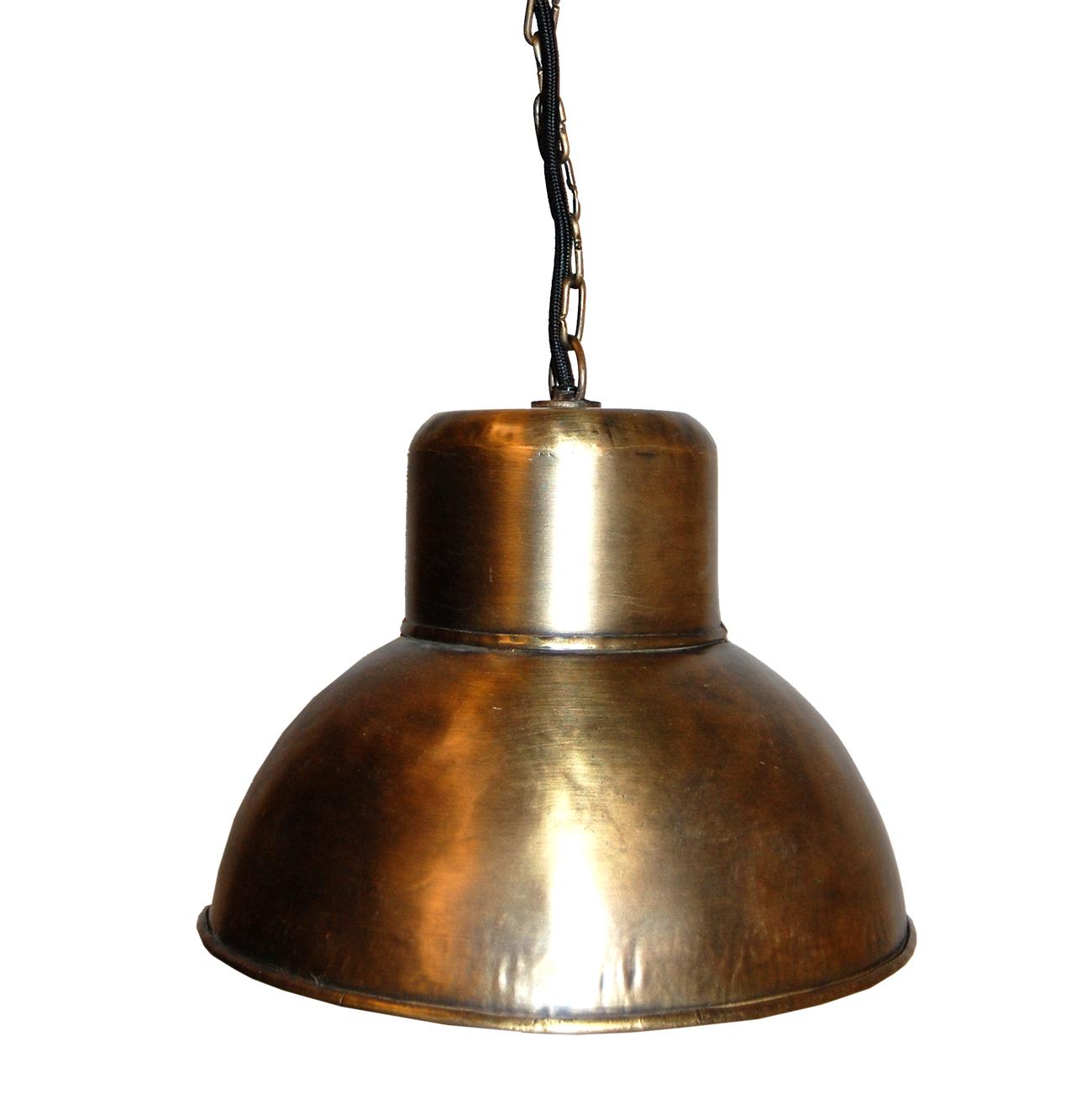 Mindre kökslampa i mässingsfärg och industristil - Ø31. Stor ...