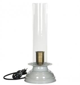 Lampa - Fotogenlampa med el - Emalj Stone - 39 cm - www.frokenfraken.se
