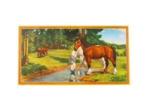 Bonad - hästar - 39 x 21 cm - www.frokenfraken.se