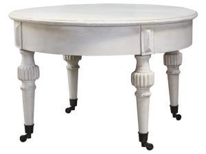 Chic Antique Soffbord runt med hjul - Marie Antoinette - Ø70cm - www.frokenfraken.se