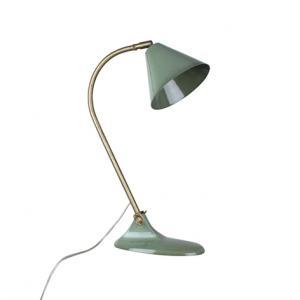 Bordslampa Ingrid Grön - L 20 x W 11 cm x H 48 cm | Skärm Ø 15 cm - www.frokenfraken.se
