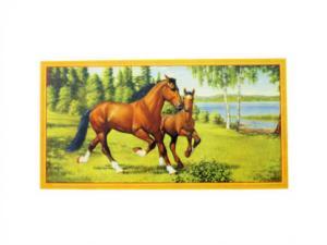 Bonad - hästar i hagen - 40 x 21 cm - www.frokenfraken.se