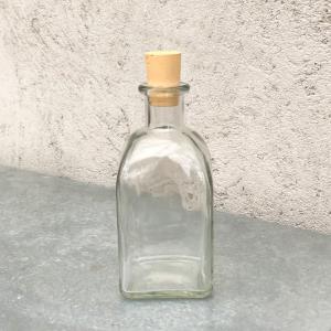 Glasflaska med kork - 14 cm - 250ml - www.frokenfraken.se
