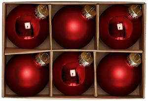Julkulor Glas - Röda/6-pack - 6 cm - www.frokenfraken.se