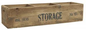 Trälåda - Storage -3 fack - 16,5 x 14 x 59,5 cm - www.frokenfraken.se