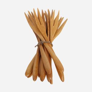 Gafflar - Bambu - 12 st - 14 cm - www.frokenfraken.se