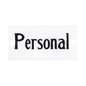 "Emaljskylt - ""Personal""- 4,5 x 9 cm - www.frokenfraken.se"