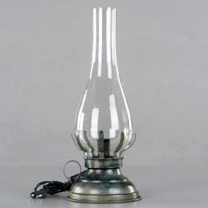 V.45 - Lampa - Fotogenlampa med el - Onyx - 45 cm - www.frokenfraken.se