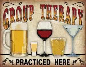 Group Therapy - Retro Metallskylt - 32 x 41 cm - www.frokenfraken.se