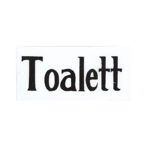 """Emaljskylt - """"Toalett""""- 4,5 x 9 cm - www.frokenfraken.se"""