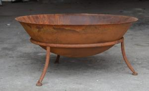 Eldfat - Rostfärgat - Ø75 x 34 cm