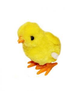 Kyckling - Hoppande när man vrider upp - 7,5 cm - www.frokenfraken.se