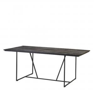 Matbord - Med svart träskiva - 200 x 100 x 75 cm - www.frokenfraken.se