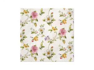 Servett - Tender Roses - 33 x 33 cm - www.frokenfraken.se