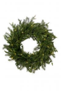 Mr Plant Krans med ljus - Grön - 65 cm