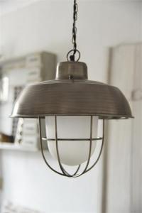 Jeanne d´Arc Taklampa - Antik Silver med Frostat Glas - 35 cm - www.frokenfraken.se