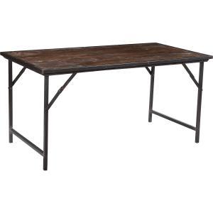 Matbord - Industri med rustikt trä - 75 x 152 x 76 cm - www.frokenfraken.se