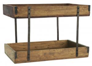 Hylla för bänk eller bord - Trä - 43 x 25 x 25 cm - www.frokenfraken.se
