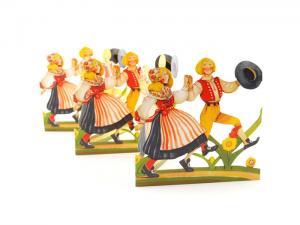 Pappersrad - Dansande par - - www.frokenfraken.se