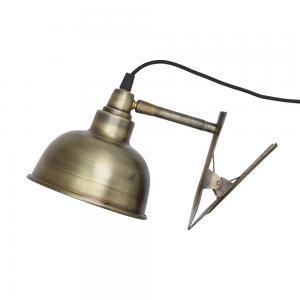 Vägglampa - Klämspot - Antik Mässing - 14,5 x 13 x 18 cm - www.frokenfraken.se
