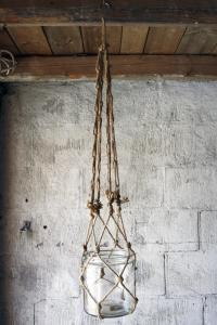 Ampel - Natur - Makramé - 103 cm - www.frokenfraken.se