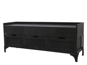 Byrå - 6 lådor - Svart - 122 cm - www.frokenfraken.se