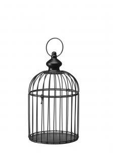 Fågelbur - Svart - 36 cm - www.frokenfraken.se