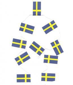 Girlang - Vimplar - Svenska Flaggan - 40 st - 4 m - www.frokenfraken.se