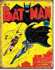 Batman No1 Cover - Retro Metallskylt - 32 x 41 cm - www.frokenfraken.se