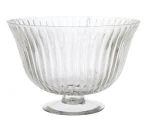 Skål - Glasskål på fot - 17 x Ø25 cm - www.frokenfraken.se
