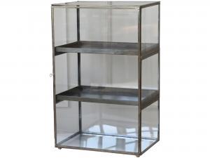 Skåp - Glas - Antik mässing - 62 x 40 cm - www.frokenfraken.se