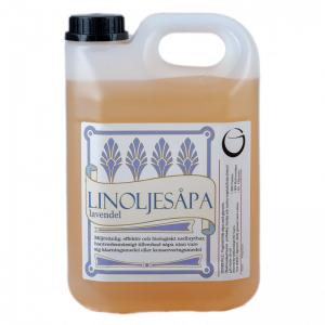Linoljesåpa - 2,5 liter - lavendel - www.frokenfraken.se