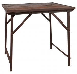 Coffee table - Metall/Brun - 75 x 90 cm - www.frokenfraken.se