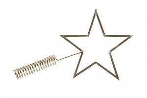 Julgransstjärna - Metall - Guld - 18 x 30 cm - www.frokenfraken.se