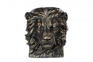 Alot Kruka - Big Lion - Svart/Brun/Guld - 27 x 24 x 26 cm