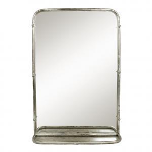 Spegel med Hylla Antik Silver Stor - 45 x 65 cm - www.frokenfraken.se