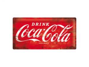 Plåtskylt - Coca-Cola - Röd - 25 x 50 cm - www.frokenfraken.se