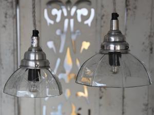 Lampa - Fönsterlampa i Glas med slipningar - Ø13 cm - www.frokenfraken.se