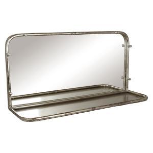 Spegel med hylla - Antik silver - 61 x 20 x 30 cm - www.frokenfraken.se