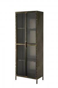 Skåp - Med glasdörrar - Antik - 63 x 38,5 x 180 cm - www.frokenfraken.se