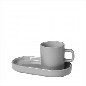 Set 2 st Espressomuggar - MIO Mirage Grey - 14,3 x 8 x 7 cm - www.frokenfraken.se