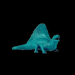 Barnleksak - Dinosaurie - Turkos - 18,8 cm - www.frokenfraken.se