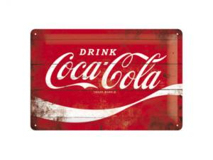 Plåtskylt - Coca-Cola - Röd - 20 x 30 cm - www.frokenfraken.se