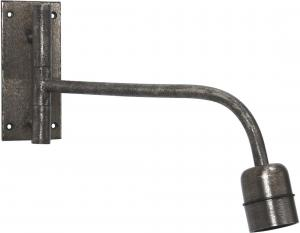 Base vägglampa - Beaten silver 34cm - www.frokenfraken.se